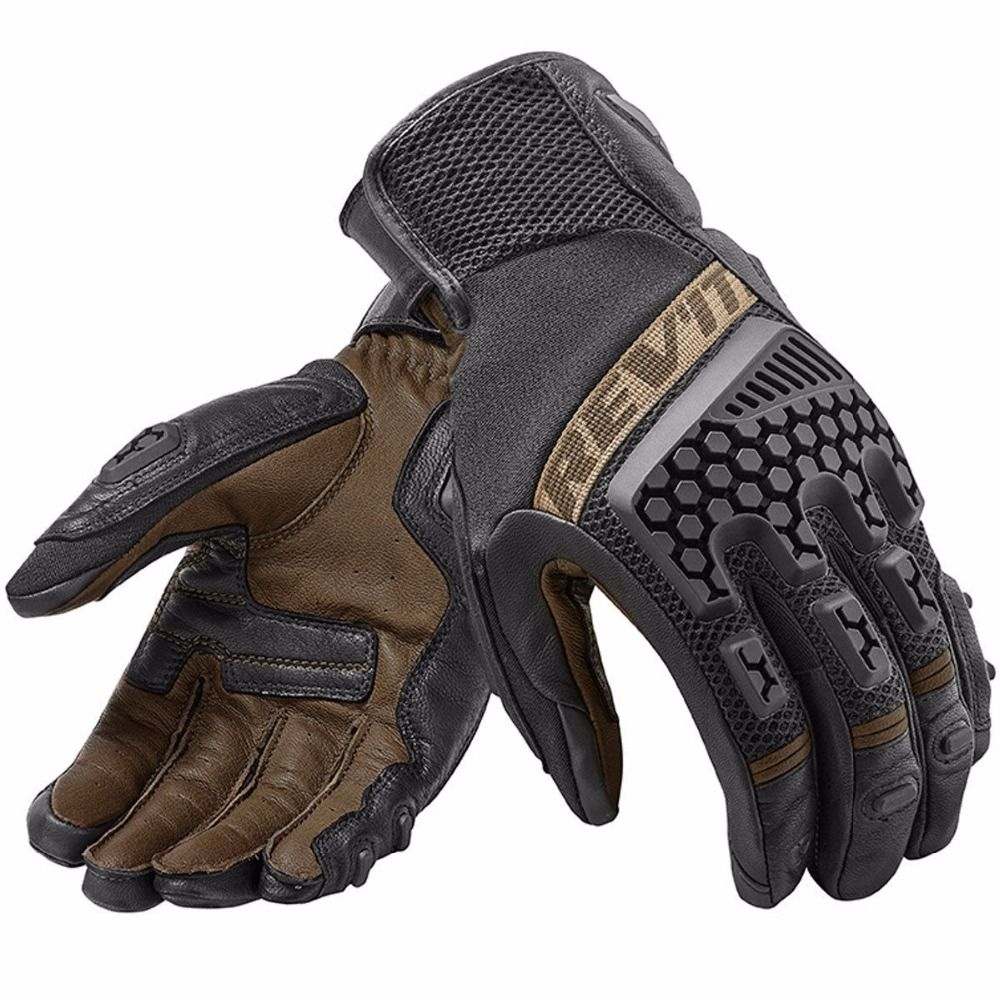 New 2018 Revit Sand 3 trial motorcycle adventure touring ventilated gloves Genuine Leather Motorbike Gloves