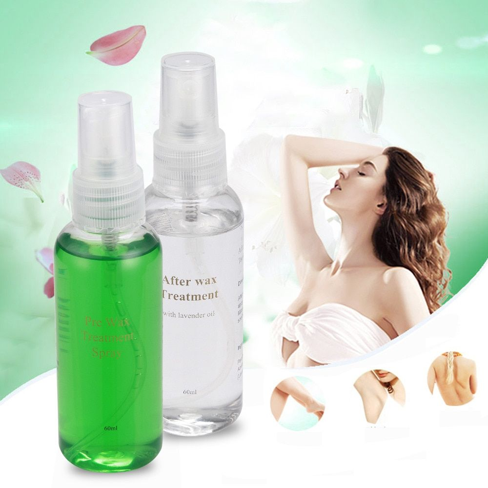 PRE & After Wax Treatment Spray Liquid Hair Removal Remover Waxing Sprayer Set New packaging