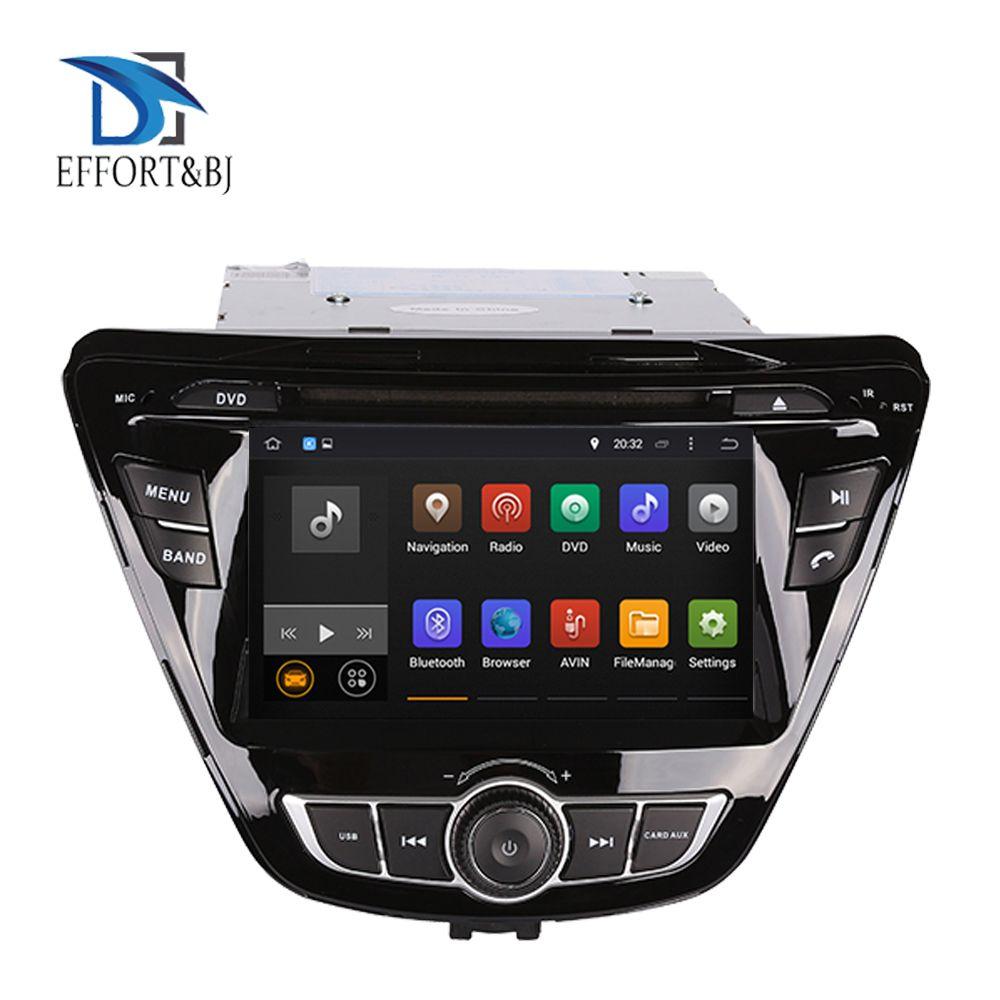 4GB RAM Android 9.0 Radio für HYUNDAI ELANTRA/AVANTE 2014-2015 Auto DVD Player Mit GPS Navigation Radio + band Recorder + Karte + Audio