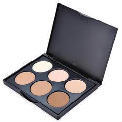POPFEEL 6 Couleurs Visage Surligneur Poudre Palette Correcteur Anti-cernes Puissance Palette Minceur Surligneur Bronzer Maquillage Poudre