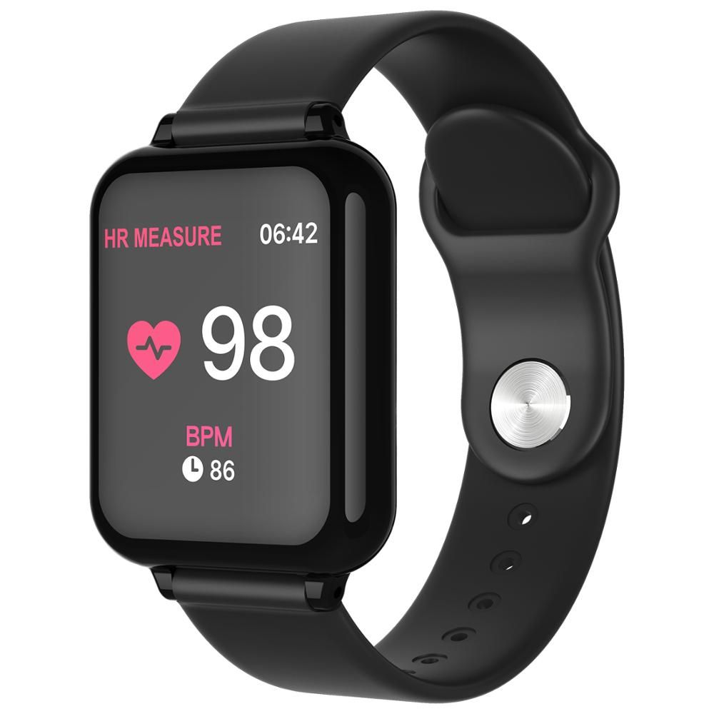 B57 montre intelligente Bracelet de fitness moniteur de fréquence cardiaque pression artérielle mode sport multiple B57 hommes femmes montre intelligente montre portable