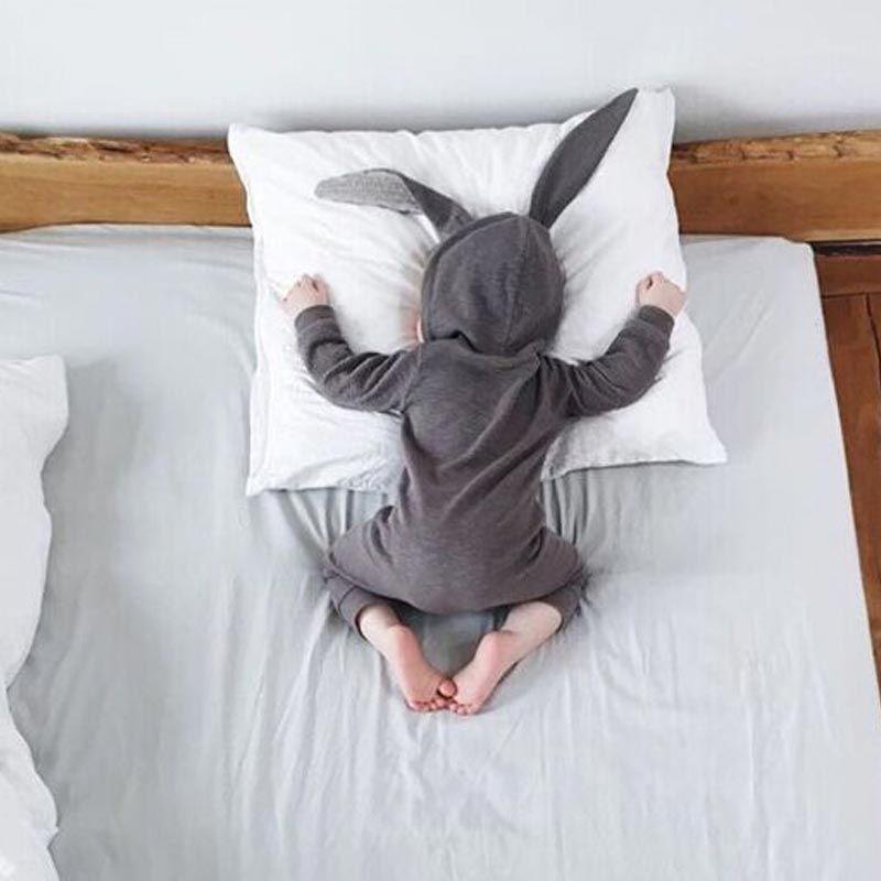 Новый Демисезонный маленьких Комбинезоны для малышек милый мультфильм кролик детские для девочек и мальчиков Джемперы детские наряды одеж...