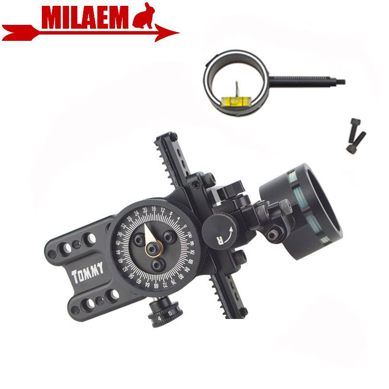 1pc Archery Compound Bow Sight Single Needle Bow Sight Adjustable Pointer HRD Technology Compound Bow Shooting Accessory