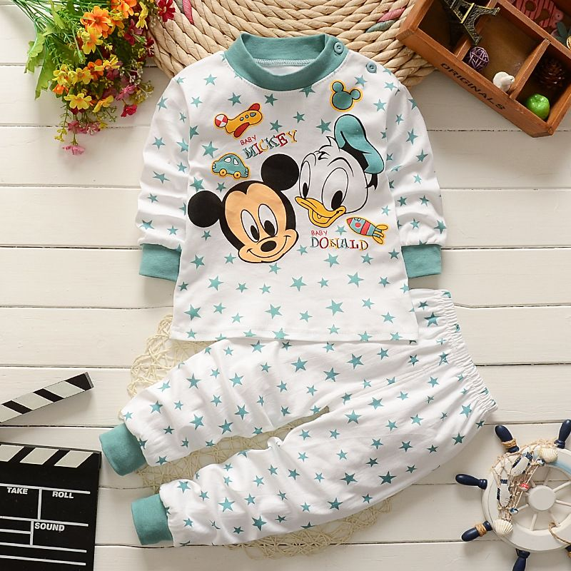 Hiver Nouveau-Né bébé vêtements mis en coton Bébé filles Vêtements 2 pcs de Bande Dessinée bébé Garçon Vêtements Unisexe enfants Vêtements Ensembles bebes