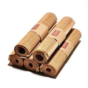 Japonais Zen Bambou Thé Armure Tapis Table Coureurs Rideaux Couverture De Table Kung Fu Thé Ensemble Accessoires Décoration Café Nappe