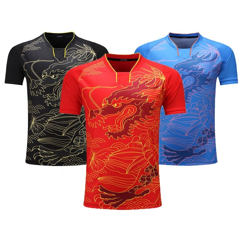 Neue Team China Tischtennis Shirt Frauen/Männer Tischtennis Jersey Pingpong shirt Ma L, ding N Uniformen Training T Shirts