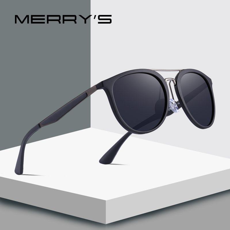 MERRYS DESIGN Männer Klassische Retro Polarisierte Sonnenbrille edelstahl Brücke Leichter Design UV400 Schutz S8129