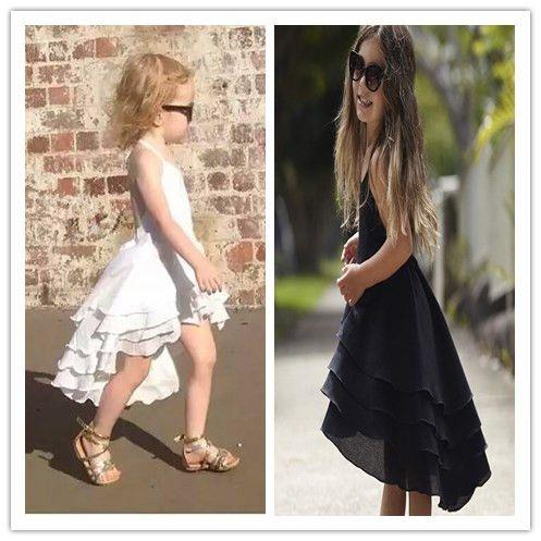 2017 Summer <font><b>Girls</b></font> Bohemia Dress Toddler Cotton Sweet Baby Beach Dress Casual Fashion Dresses Princess Party Dress