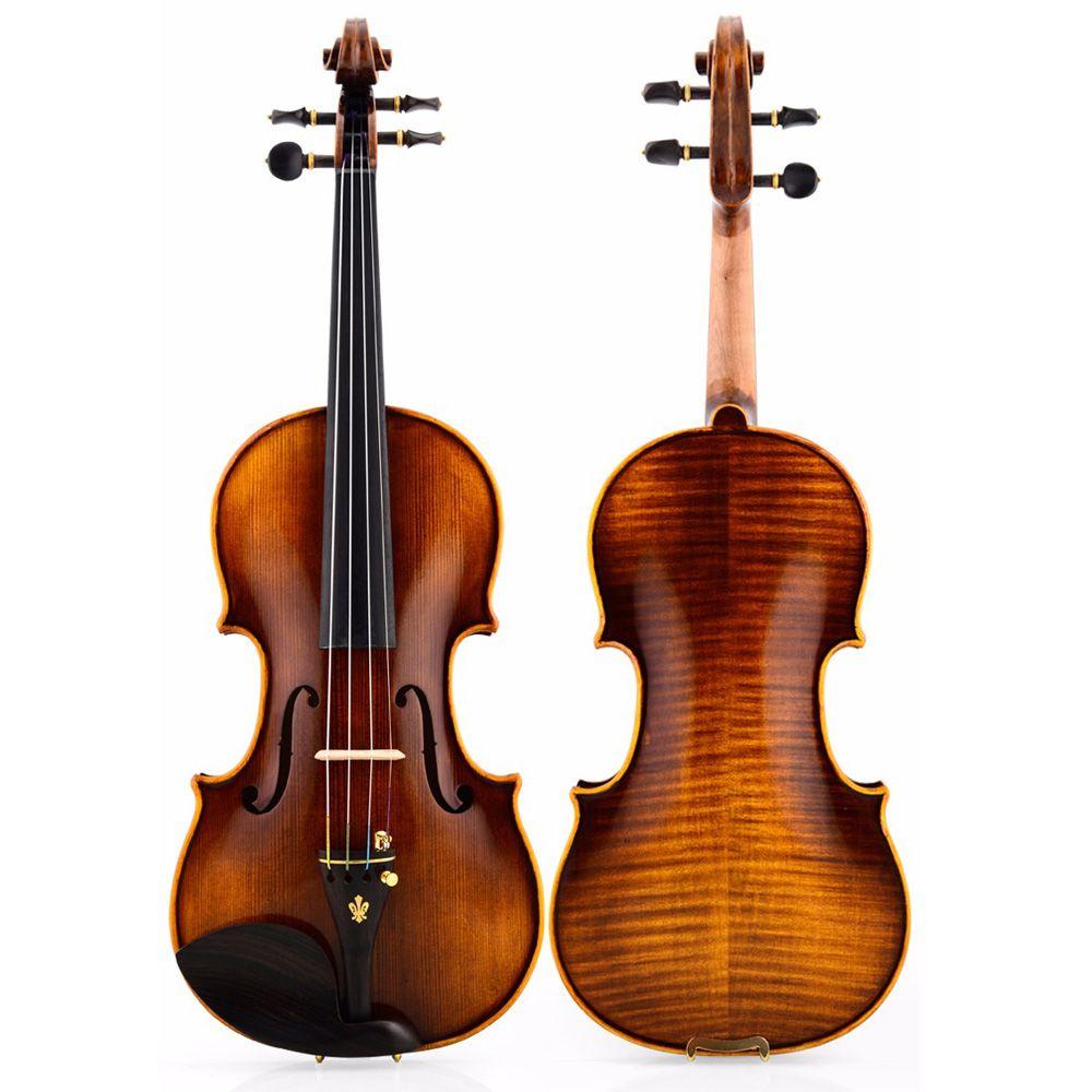 Christina V05-B violin 4/4 Italian handmade Antique Grading violino free shipping music instrument with padded case bow