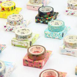 Pemandangan Alam Lucu Lotkawaii Bunga Makanan Hewan Dekoratif Washi Tape Diy Scrapbooking Masking Tape Sekolah Kantor Pasokan