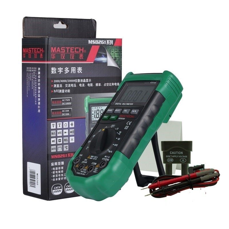 Mastech MS8268 Auto Range Digital Multimeter Full protection ac/dc ammeter voltmeter ohm Frequency electrical tester diode <font><b>test</b></font>