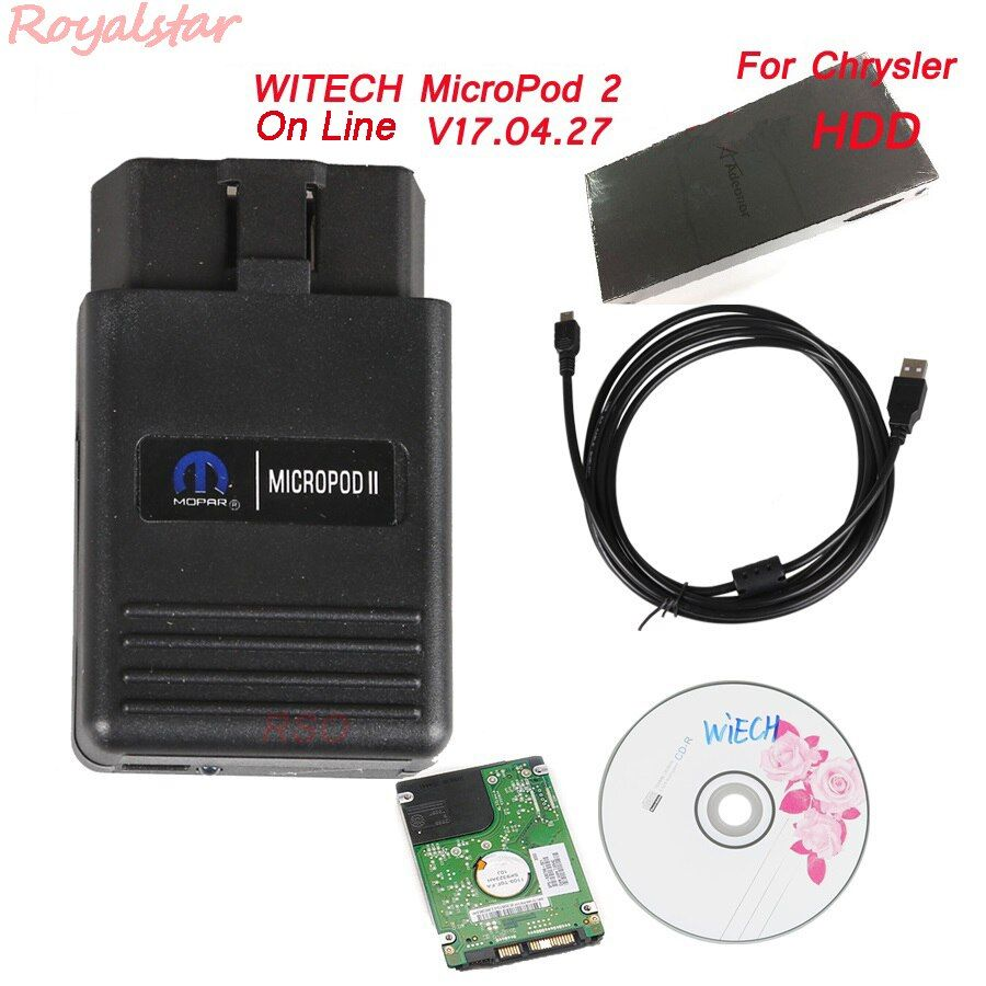 New on line WITECH MicroPod 2 V17.04.27 For Chrysler professional Diagnostic Micro Pod2 with HDD Software Multi-Language