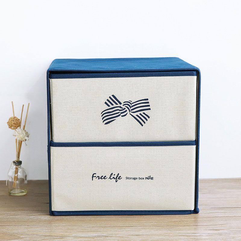 YFGXBHMX Multifunction Non-woven Double layer Underwear Storage Box Clothing Underwear Organizer Finishing Wardrobe Container
