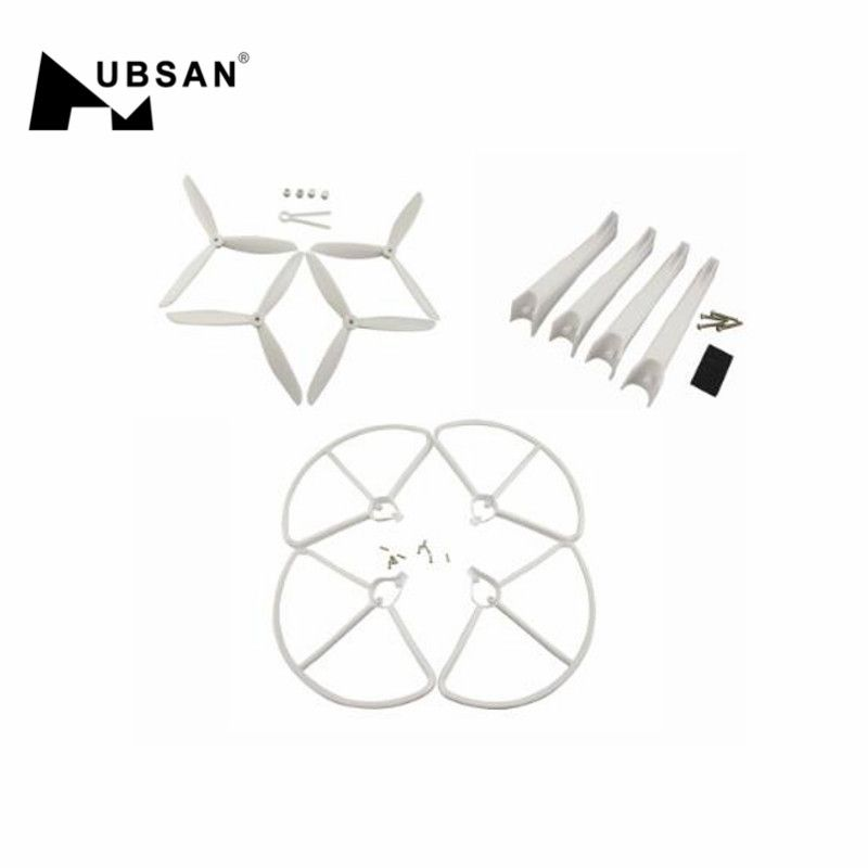Hubsan H501S RC Quadcopter Spare Part Propellers Protection Cover Guard & Landing Gear Set Spare Parts Accessories