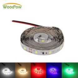 Ultra Bright 300leds 5M Full Set LED Strip Light Ribbon Flexible 60leds/m SMD 2835 12V DC 1m/2m/3m/5m/Green Red Blub Warm White