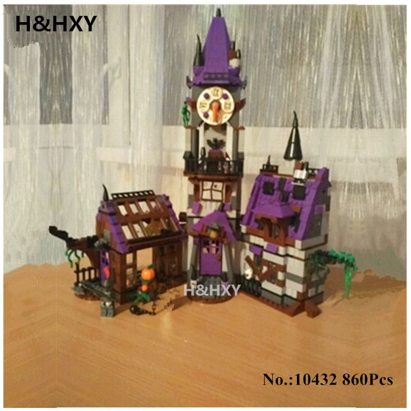 H&HXY IN STOCK 10432 Scooby Doo Mysterious Ghost House 860pcs Building Block Toys Compatible 75904 Blocks For Children gift