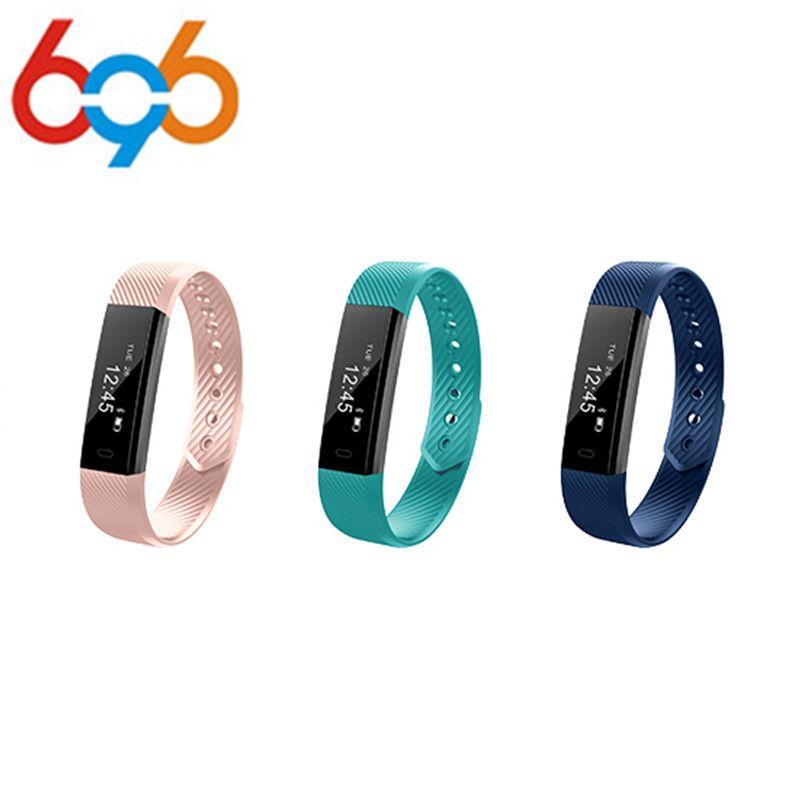 696 ID115 Smart Wristbands Fitness Tracker Smart Armband Schrittzähler Bluetooth Smartband Wasserdichte Schlaf Monitor Armbanduhr