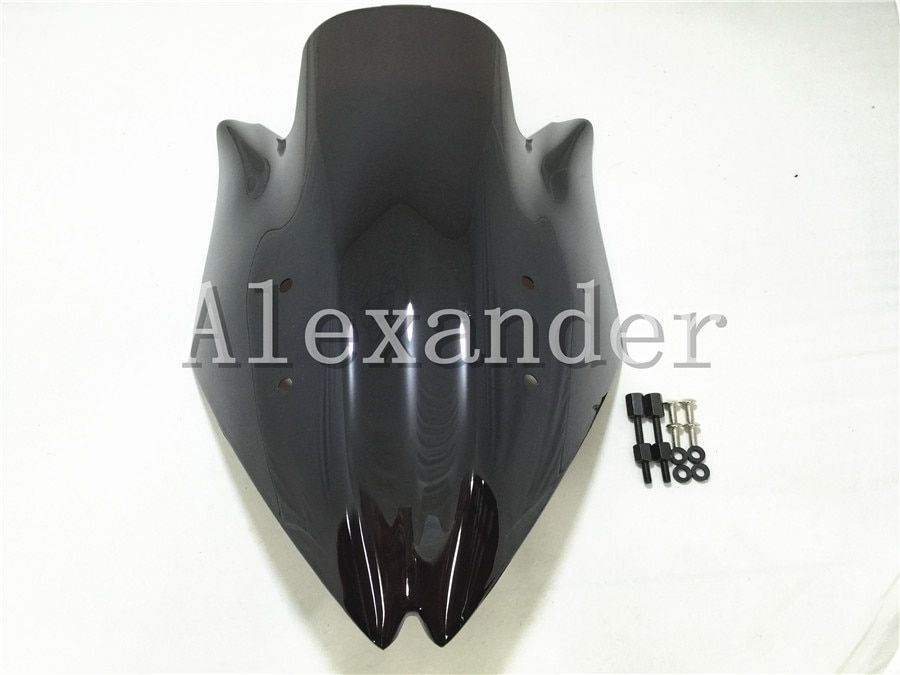 HotSale For Kawasaki Z1000 2007 2008 2009 z1000  Z 1000 z 1000  black Windshield WindScreen Double Bubble