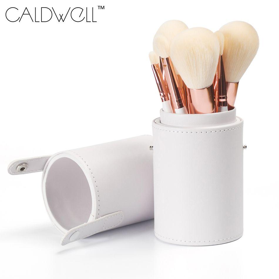 CALDWELL Professionnel Maquillage Pinceaux 9 pcs Haute Qualité Synthétique De Chèvre Cheveux Maquillage Outils Kit Avec Brosses Tube