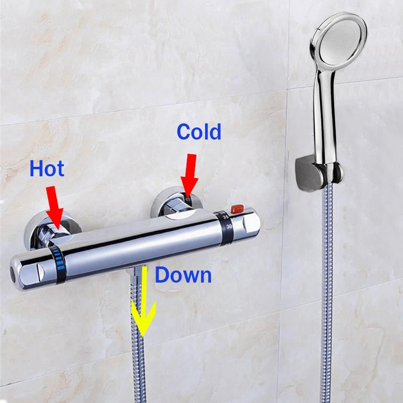 Hot Sale Thermostatic Shower Faucet Thermostatic Mixing Valve Bathroom Faucet with Shower Head Mixer Faucet