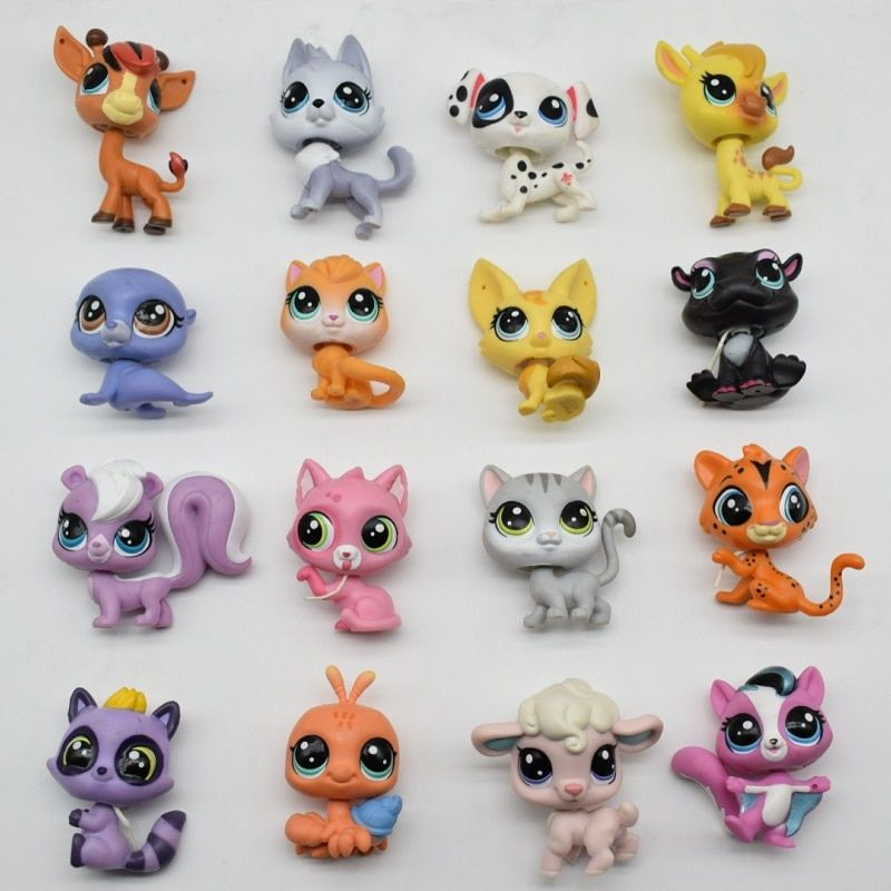LPS Toy bag 18Pcs Shop Animals Cats Kids Children Action Figures PVC LPS Toy Birthday/Christmas Gift