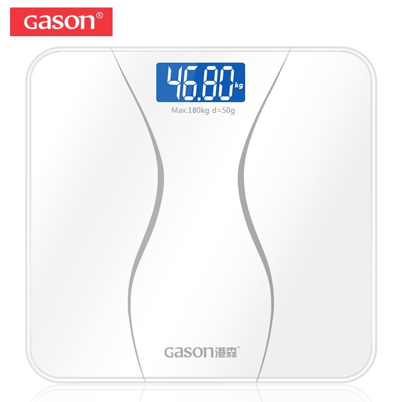 GASON A2 Precision Bathroom Scales Body Smart Electric Digital Weight Home Health Balance Toughened Glass LCD Display 180kg/50g