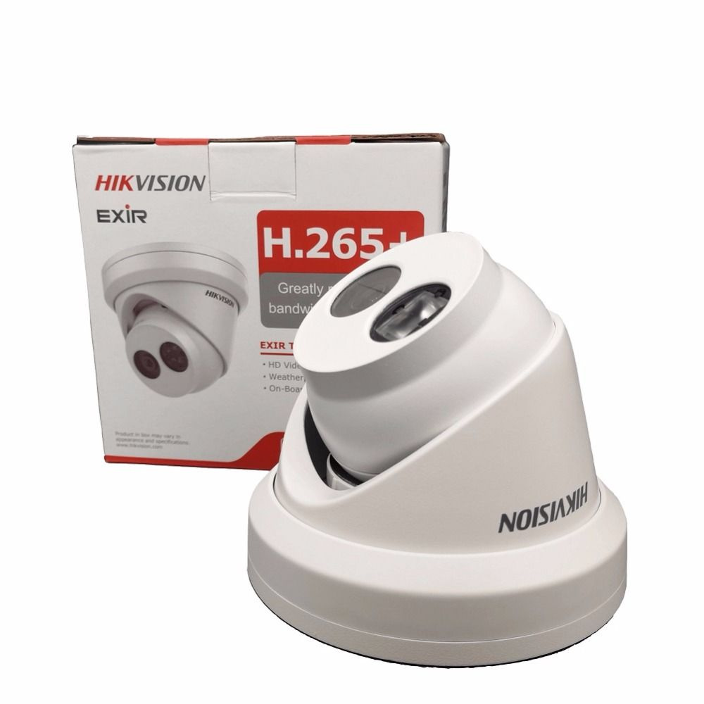 Hikvision 8MP IP Camera DS-2CD2385FWD-I Turret Network Camera H.265 High Resolution CCTV Camera with SD Card Slot IP67