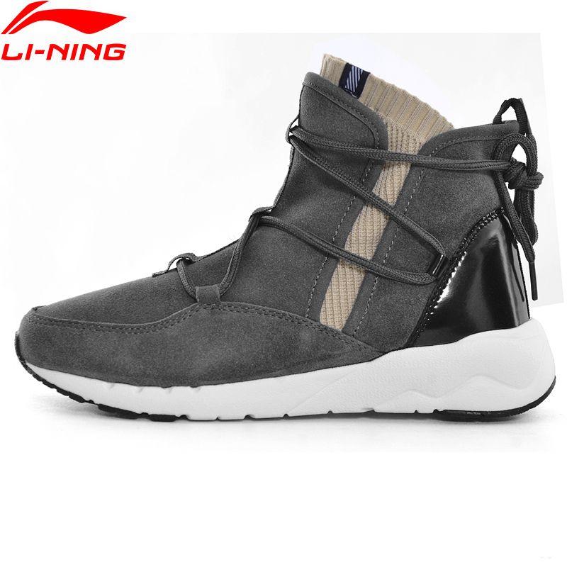Li-Ning Women Sport Walking Shoes Fitness Leisure Support Sneakers LiNing Sock-Like Type Sports Shoes GLKM138 YXB122