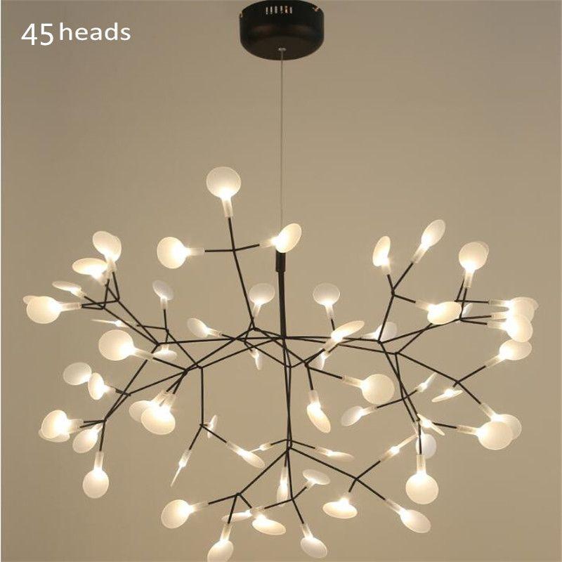 Modern Led Pendant Light G4 Black Acrylic Pendant Lamp For Hall Shop Hanging Lamp 81 bulbs Hanglamp Suspension Luminaria 85-260V