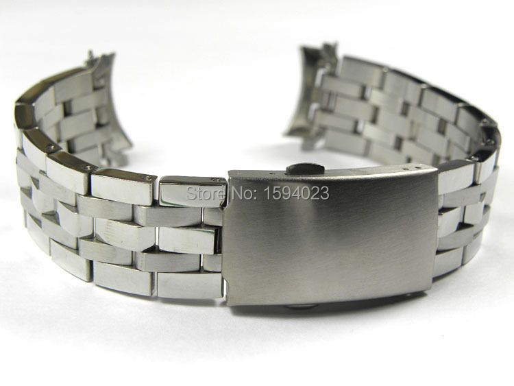 19mm PRC200 T17 T461 T014430 T014410 Watchband Watch Parts male <font><b>strip</b></font> Solid Stainless steel bracelet strap
