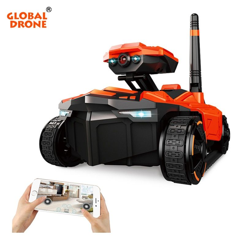 Global Drone Electric Kid RC C Wifi Android And Apple Phone Control 1 18 Scale Remote Tanks WI-FI Rover RC Tank With Camera