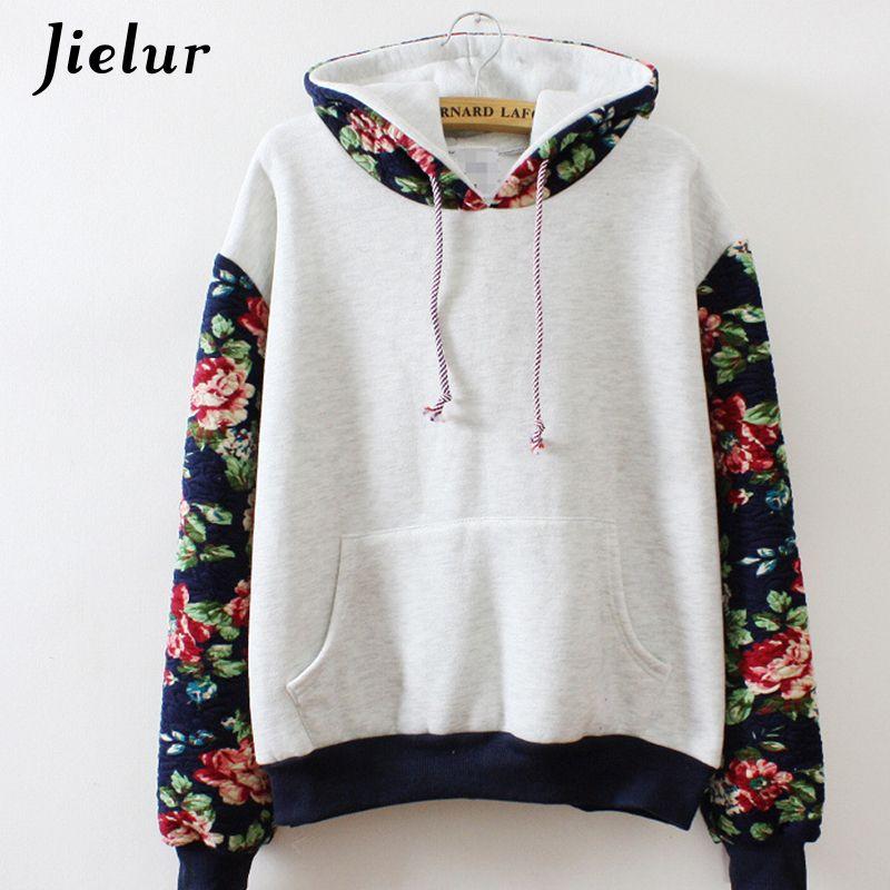 New <font><b>Retro</b></font> Flowers Spell Color Long Sleeve Hooded Sweatshirt Women Hoodies Fashion Casual Female Tracksuits S-XL Wholesale