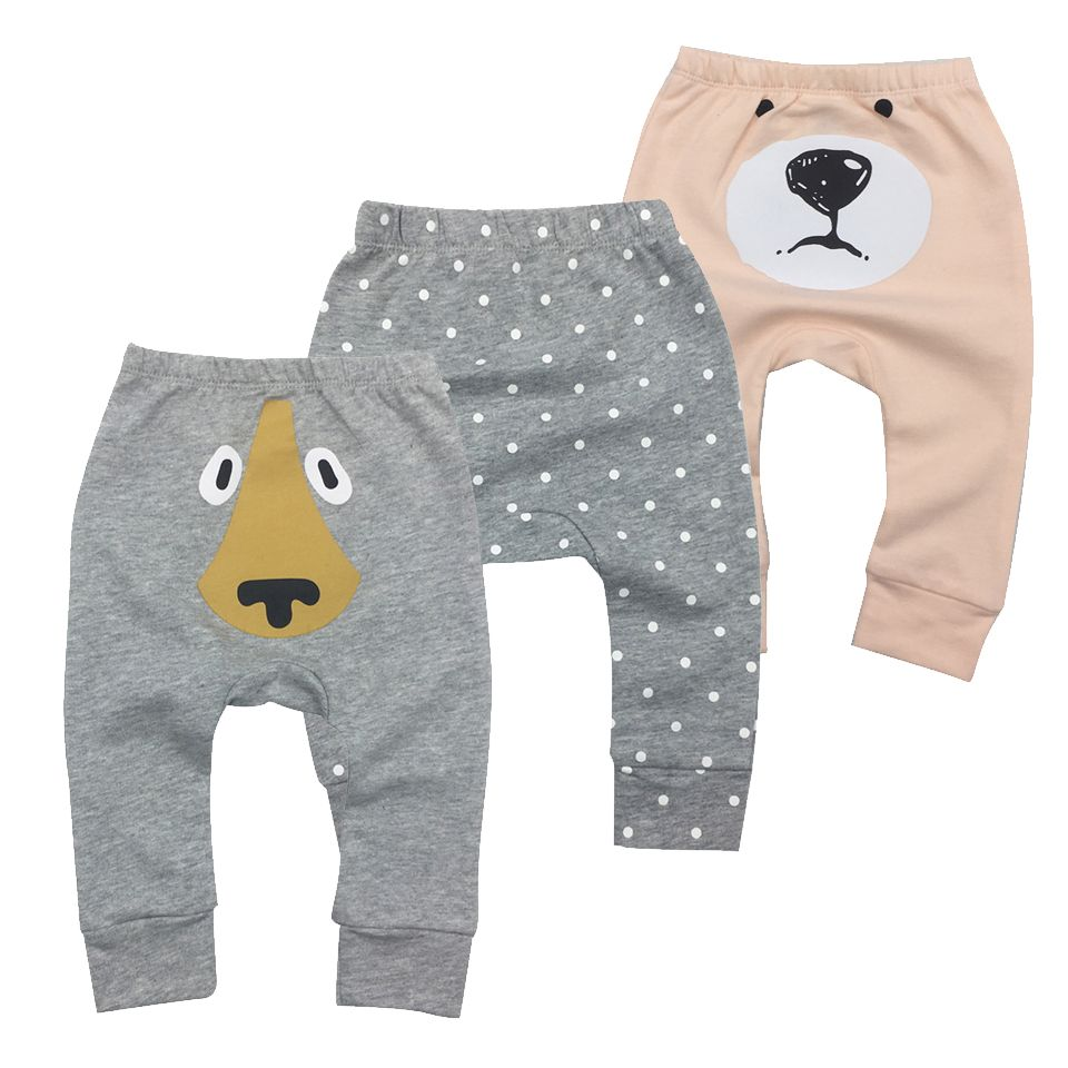 2018 Infantil Toddler Newborn Baby Boys Girls Baby Girls Pants Unisex Casual Bottom Harem Pants PP Pants Fox Trousers 6M-24M