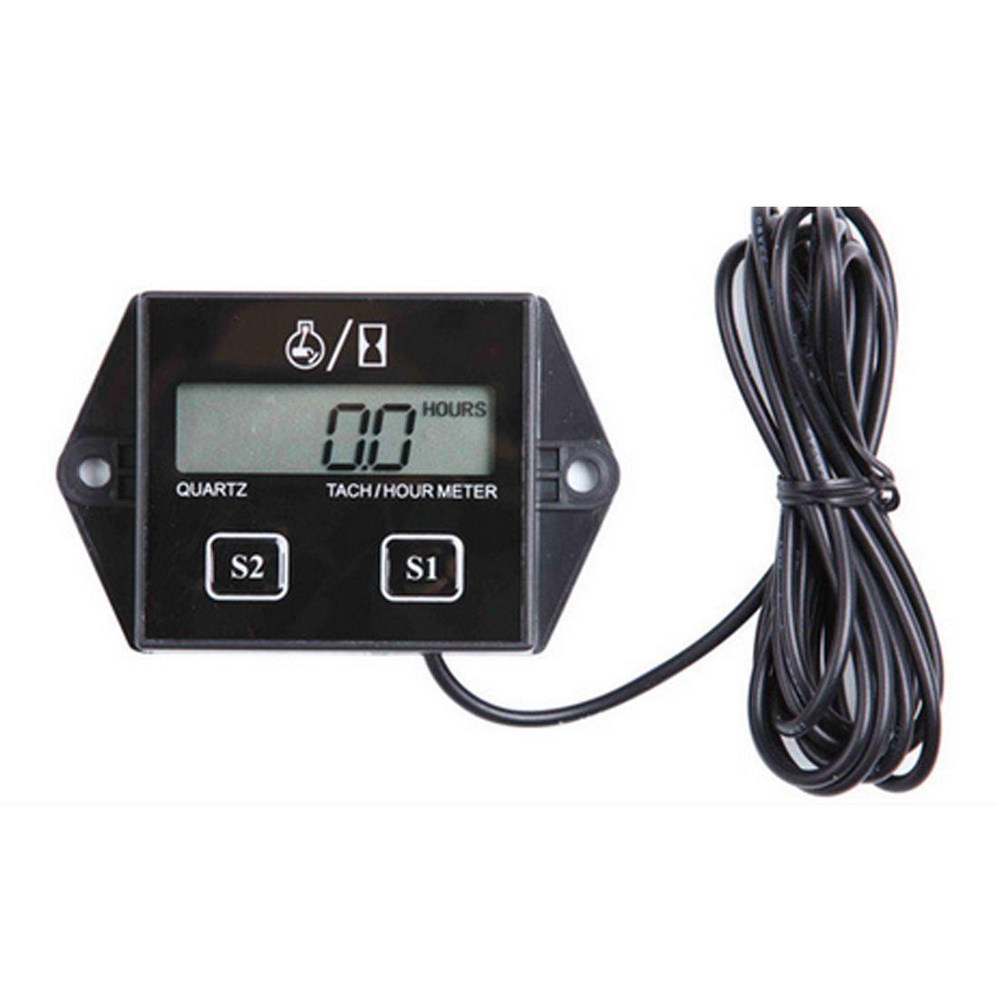 LCD Display Tachometer RPM Tacho Tach Gauge Spin Digitaler Tachometer Motor Tach Stunde Meter Für Auto Boot Motorrad