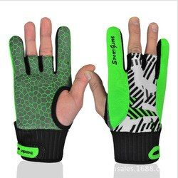 BOODUN sarung tangan anti-selip Profesional bowling Nyaman aksesoris instrumen semi-jari olahraga Sarung Tangan untuk Bowling Bowling