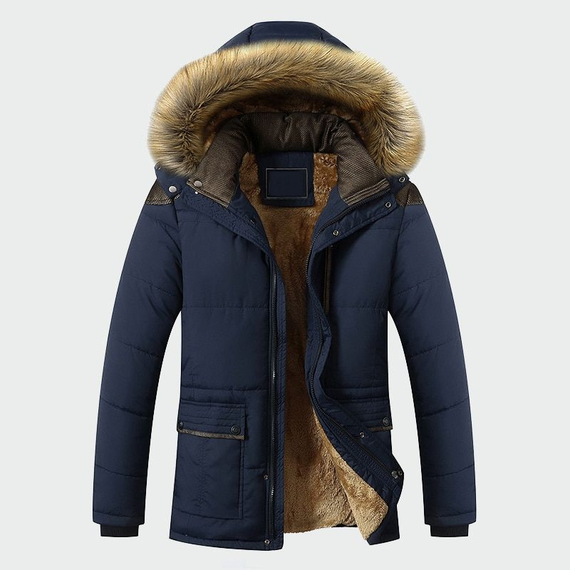 Winter Jacket Men Brand Clothing Fashion Casual Slim Thick Warm Mens Coats Parkas With Hooded Long Overcoats Male Clothes ML026