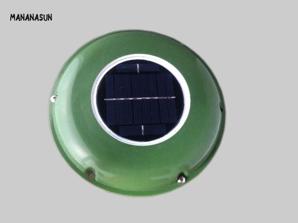 SOLAR VENT FAN AUTOMATIC VENTILATOR for GREEN HOUSE BOAT MOTORHOME RV