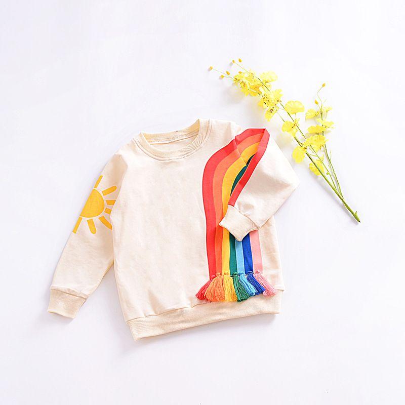 Детские футболки на мальчиков дети бренд Дизайн осень 2017 г. Толстовки с капюшоном для девочек из хлопка с круглым вырезом и длинными рукавам...