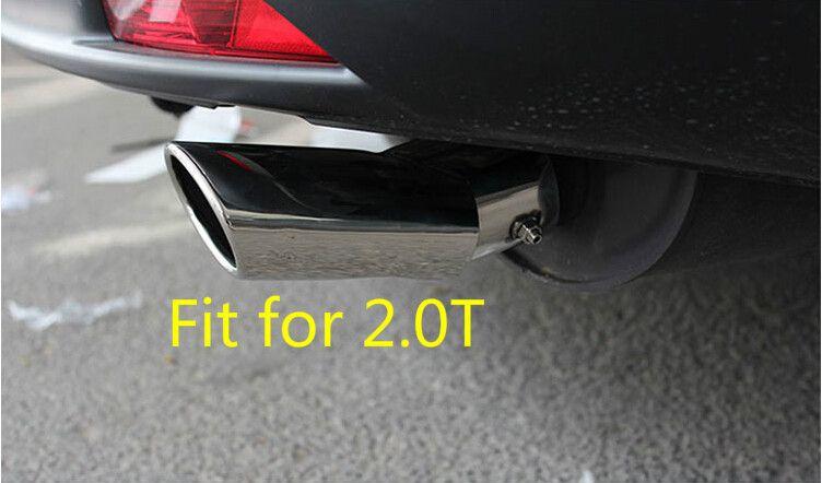 For honda crv 2012 2013 2014 2015 2.0T tail end pipe exhaust muffler tip cover trim 1pcs