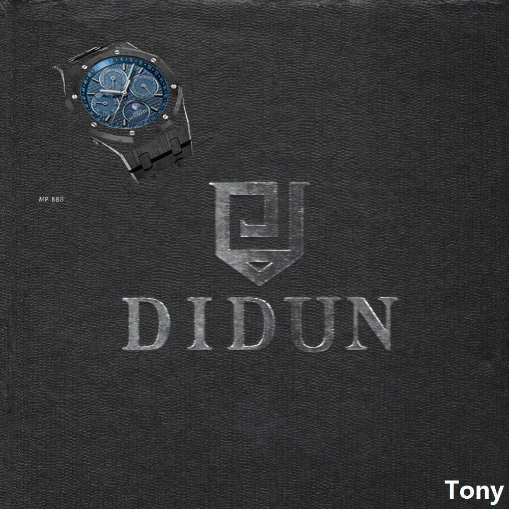 DIDUN Men Watches Top Brand Luxury Mechanical Automatic Watch Fashion Business Watch 30m Waterproof Moonphase Wristwatch