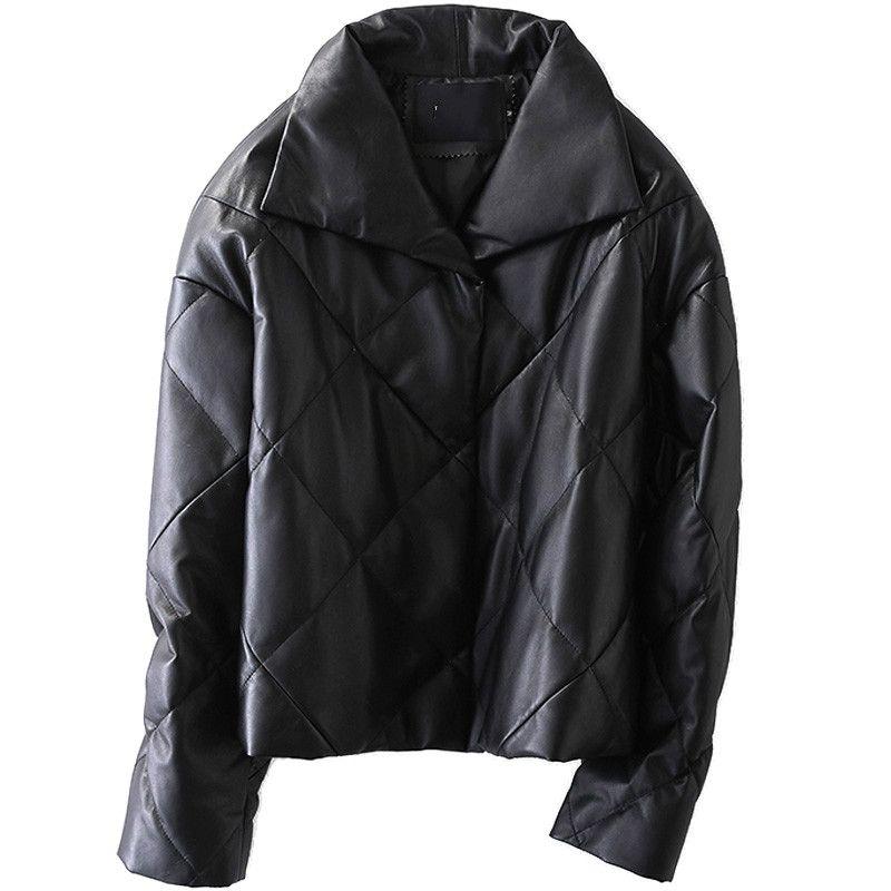 Schaffell Mantel Aus Echtem Leder Jacke Frauen Unten Unten Winter Mantel Frauen Kleidung 2018 Koreanische Elegante Slim Fit Kurze Mäntel ZT698