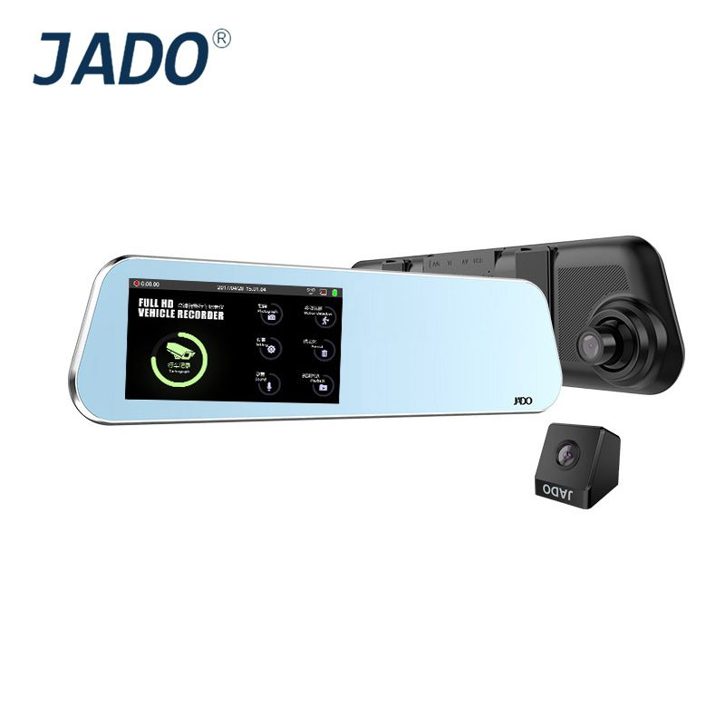 JADO D220 Rearview Mirror Dvr 4.5 Touch Screen Full HD 1296P/1080P Car Camera Dvrs Video Recorder Registrar dash cam