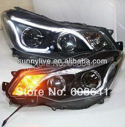 Untuk 2012-2014 Tahun untuk Subaru XV Strip DIPIMPIN Kepala Cahaya dengan Lensa Bi Xenon Proyektor TLZ