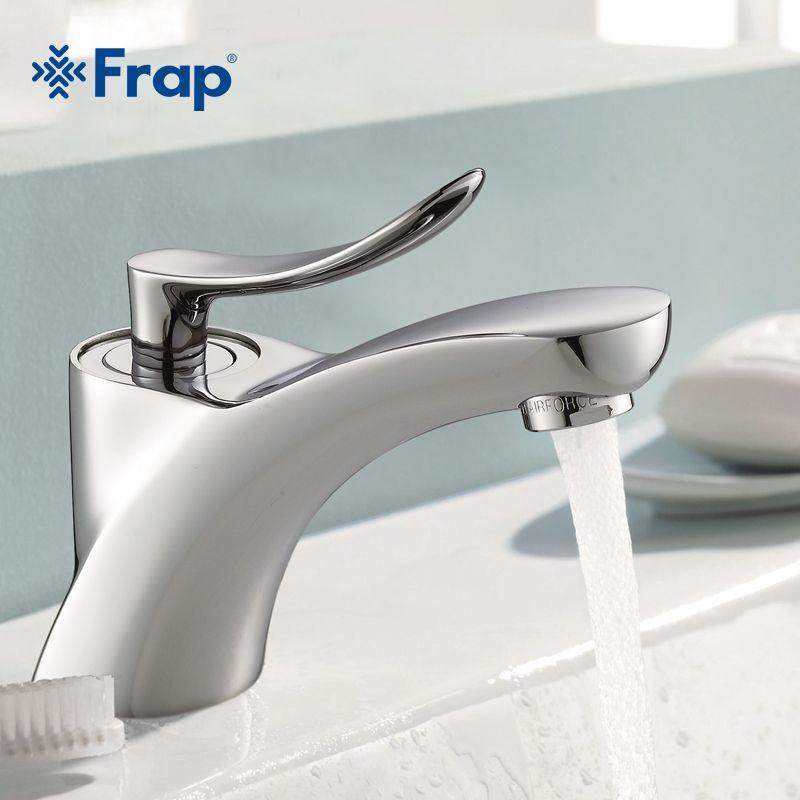 FRAP Klassischen Stil chrome bad Becken waschbecken Wasserhahn Kalt-und Warmwasser Mixer Einhand bad Wasserhähne F1081