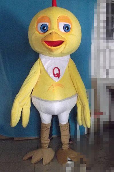Chick mascota personaje disfraces de Halloween del partido del vestido de lujo del equipo de la escuela deporte tamaño adulto Venta caliente