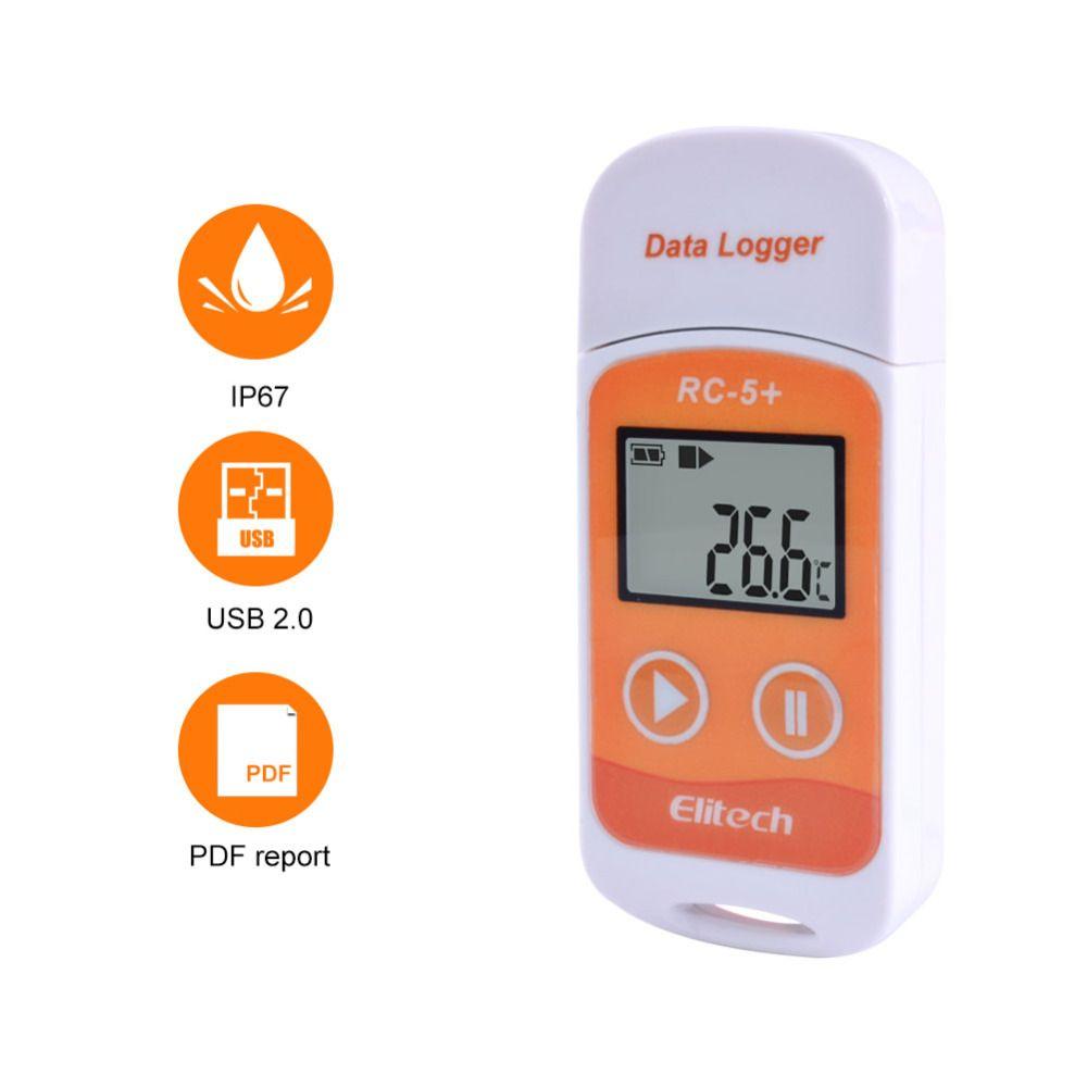 10 teile/los RC-5 + High-präzision USB Temperatur Daten Logger Upgrade für Kälte, Kalten Kette Transport, Labs