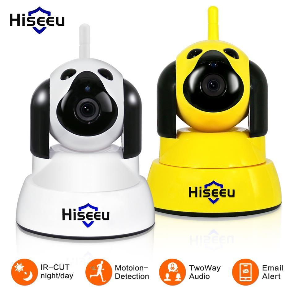 Hiseeu sécurité à domicile caméra IP Wi-Fi sans fil intelligent chien de compagnie wifi caméra Surveillance vidéo 720 P nuit CCTV intérieur bébé moniteur