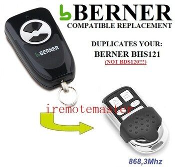 BERNER BHS121 garage door remote control replacement free shipping