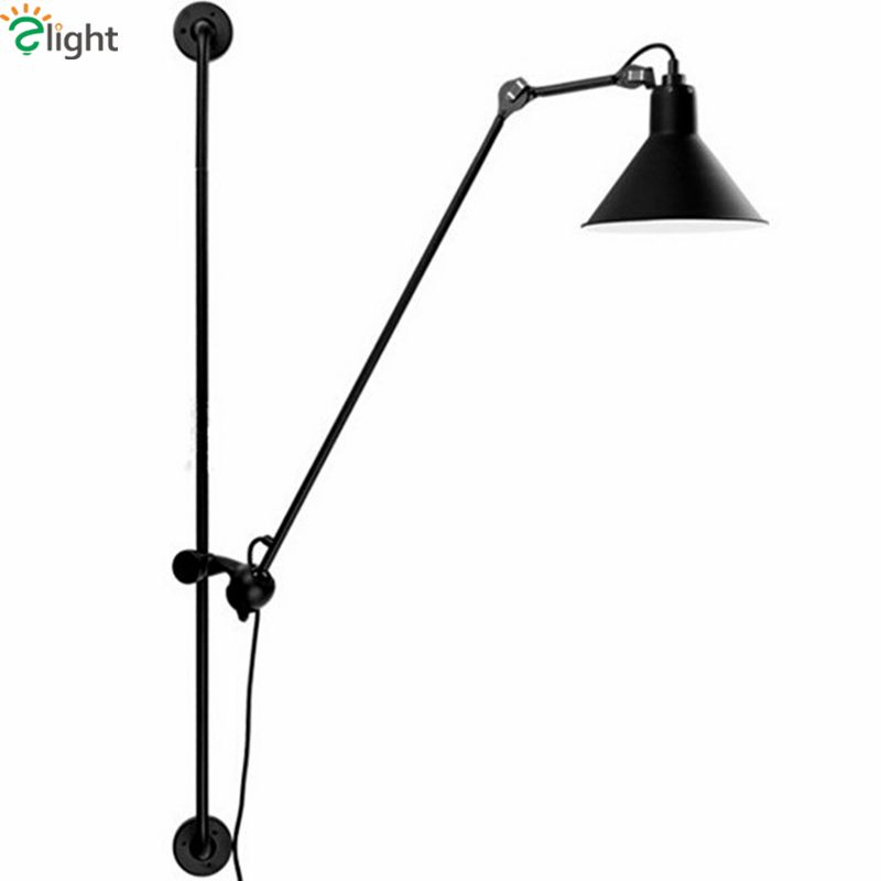 American Retro Industrial Rotatable Led Wall Lamp Large Size 120cm Paint Metal Wall Lamp Led Luminarias for Indoor Lighting