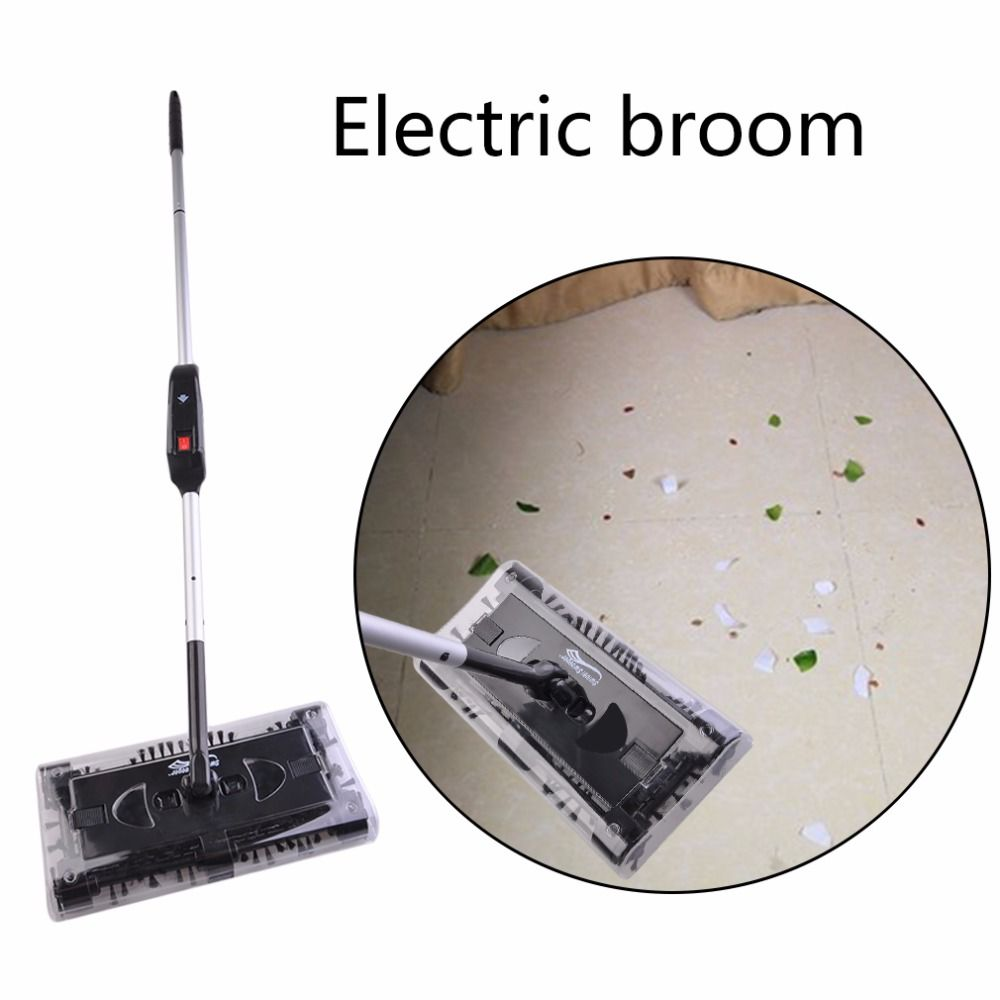 Automatic Mop Swivel Sweeper Electronic Spin Hand Push Sweeper Cleaner Automatic Home Cleaning <font><b>Machine</b></font> Electric Broom